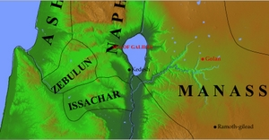 Accordance Maps: Golan [Ramot Gil'ad to the south and Kedesh to the west] - © Psalm11918.org