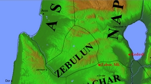 Accordance Maps: Kedesh in Naphtali and Mt. Tabor in Issachar- © Psalm11918.org