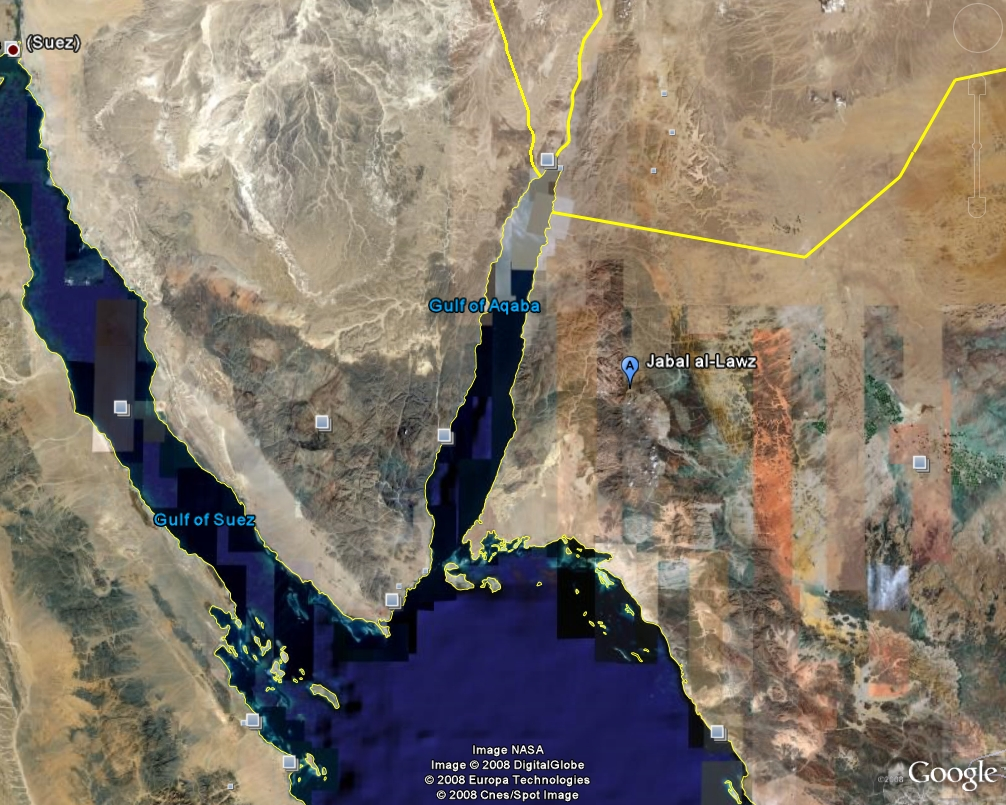 Google Earth View of Jabel Al Lawz- Psalm11918.org
