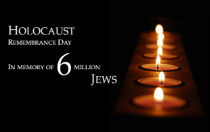 HOLOCAUST REMEMBRANCE based on ROW OF CANDLES © Emicristea | Dreamstime.com