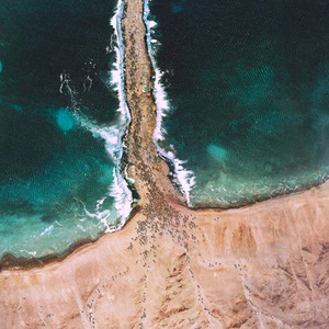 RED SEA CROSSING FROM ABOVE - unknown
