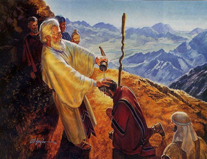 Moshe Anoints Yehoshua- CW Taylor 2010