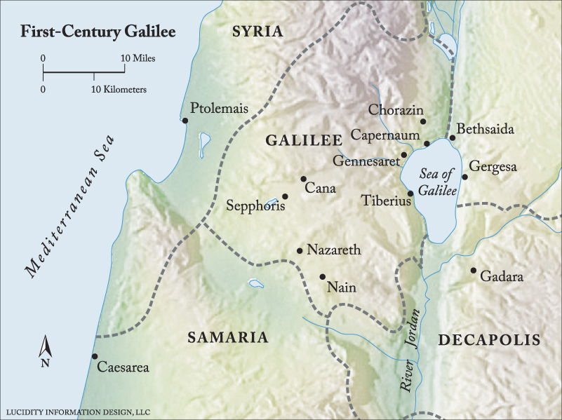 MAP: FIRST-CENTURY GALILEE ©2013 Luther Seminary
