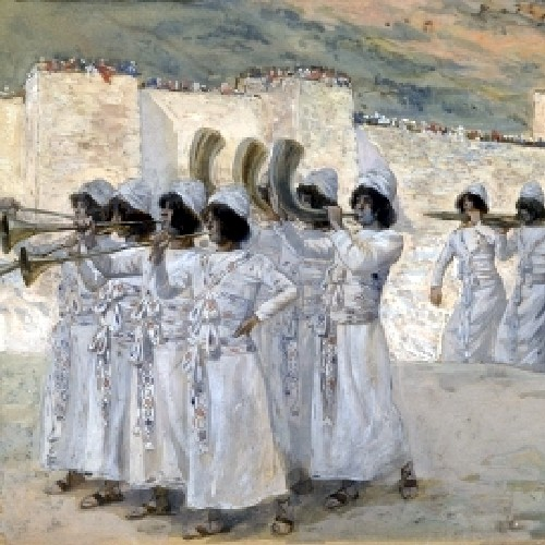 THE SEVEN TRUMPETS OF JERICHO- James Tissot