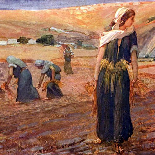 RUTH GLEANING- James Tissot