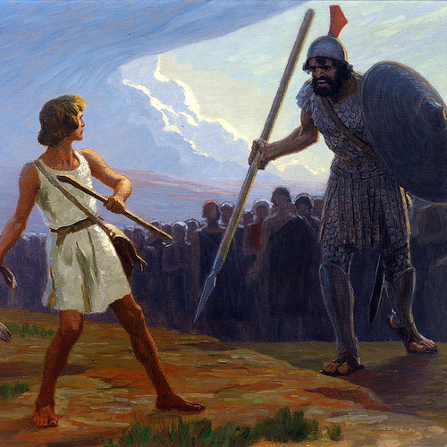 DAVID GEGEN GOLIATH (DAVID VERSUS GOLIATH)- Fugel
