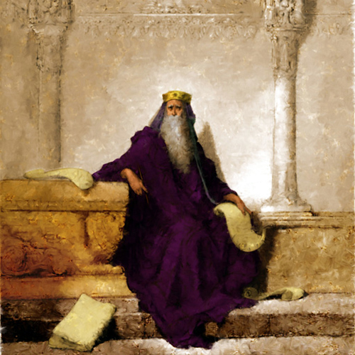 KING SOLOMON (from Gustave Dore's original woodcut)- Bill Osborne