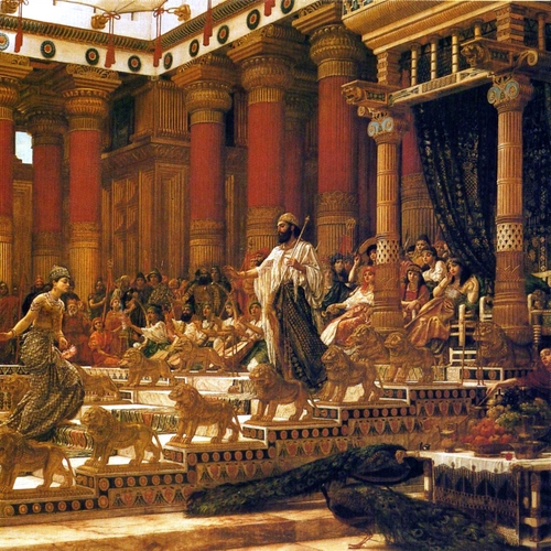 THE VISIT OF THE QUEEN OF SHEBA TO KING SOLOMON- Sir Edward John Poynter (1890)