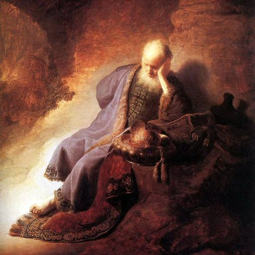 JEREMIAH LAMENTING OVER THE DESTRUCTION OF JERUSALEM- Rembrandt