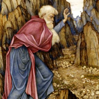 THE VISION OF EZEKIEL: THE VALLEY OF DRY BONES- John Roddam Spencer Stanhope