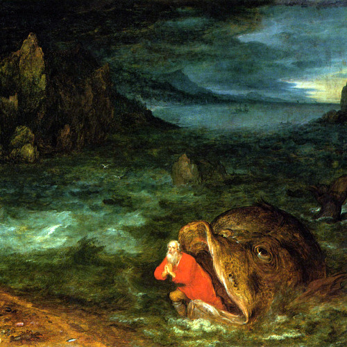 JONAH EMERGING FROM THE WHALE- Pieter Brueghel