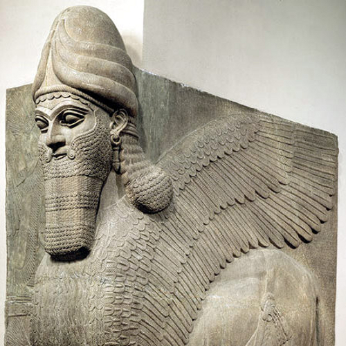 HUMAN-HEADED WINGED BULL AND WINGED LION (LAMASSU)- The Metropolitan Museum of Art