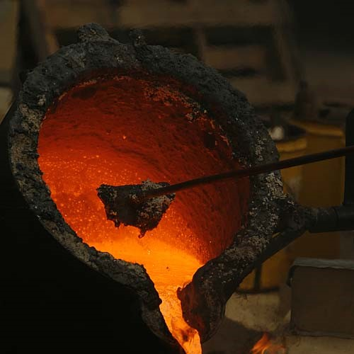 MOLTEN IRON- Photo by Richard Hamm