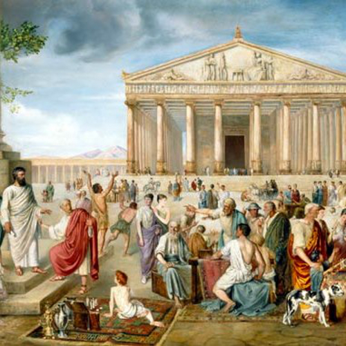 ST PAUL PREACHING BEFORE THE TEMPLE OF DIANA IN EPHESUS- Adolf Pirsch