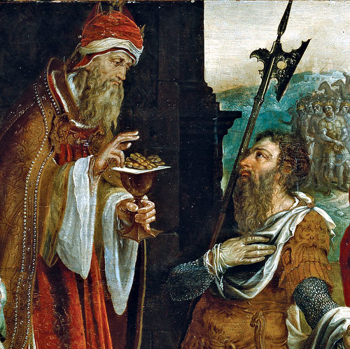 ABRAHAM RECEIVING THE BLESSING OF MELCHIZEDEK- Maerten van Heemskerck