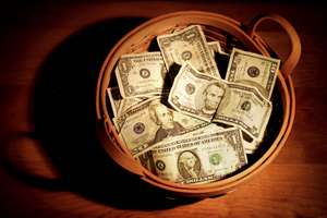 BASKET OF MONEY © Suzanne Tucker | Dreamstime.com